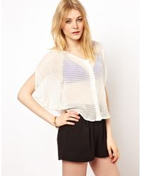 Penfield - Sylk Cold Shoulder Blouse with Texture - Lyst