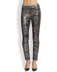 7 For All Mankind Skinny Sequined Jeans - Lyst