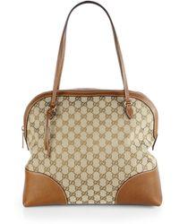 Gucci Medium Bree Gg Dome Satchel - Lyst
