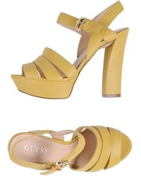 Guess Platform Sandals - Lyst