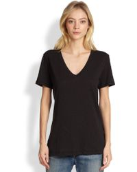 Rag & Bone/JEAN The Classic V Tee black - Lyst