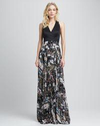 Sachin & Babi  Aurelie Pleat Skirt Combo Dress - Lyst