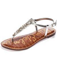Sam Edelman Sandals Gwyneth Studded Thong - Lyst