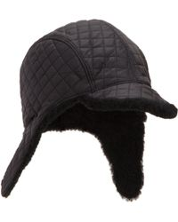 Barneys New York Quilted Trapper Cap - Lyst