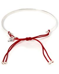 Gag & Lou - Silver Plaque Love Bracelet - Lyst