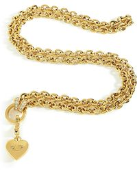 Juicy Couture - Gold Chunky Link Charm Catcher Necklace - Lyst