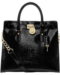 MICHAEL Michael Kors Hamilton Patent Leather North/South Tote Bag - Lyst