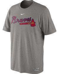 Nike Men'S Short-Sleeve Dri-Fit Atlanta Braves T-Shirt - Lyst