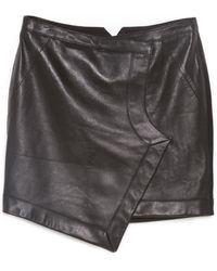 Tess Giberson - Leather Wrap Skirt - Lyst