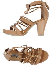 Vic Brown Platform Sandals - Lyst