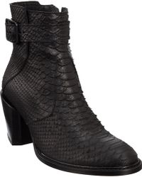 Helmut Lang Buckle Boot - Lyst