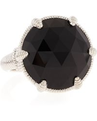 Judith Ripka Black Onyx Silver Eclipse Ring 8 - Lyst