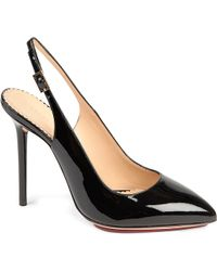 Charlotte Olympia Monroe Patent Leather Slingback Courts - Lyst