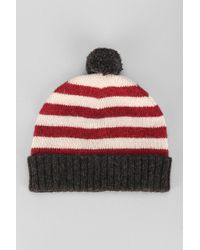Urban Outfitters Wool Stripe Pom Beanie - Lyst