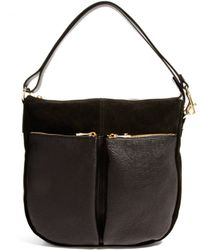 Little Mistress - Whistles Berwick Double Pocket Suede Leather Hobo Bag - Lyst