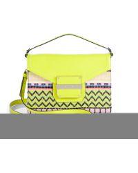 Milly Rich Neon Jacquard Crossbody Bag - Lyst