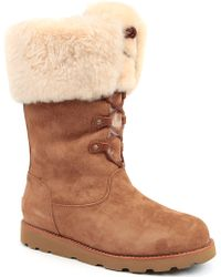 Ugg Barbarin Suede Boots Brown - Lyst