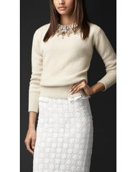 Burberry Gem-embellished Cashmere Sweater - Lyst