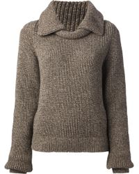 Christophe Lemaire - Wide Collar Jumper - Lyst