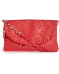 Deepa Gurnani | New Look Babar Elephant Grain Zip Detail Clutch Bag | Lyst