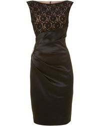 Eliza j lace top satin dress
