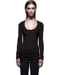 Lanston Long Sleeve Scoop Neck Top - Lyst