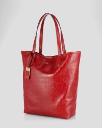 Ralph Lauren Tote Lanesborough Embossed North South - Lyst
