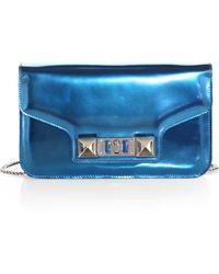 Proenza Schouler Ps11 Metallic Leather Chain Wallet - Lyst