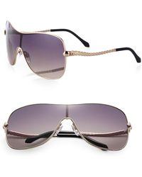 Roberto Cavalli Metal Shield Aviator Sunglasses - Lyst