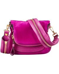 Tom Ford Jennifer Suede Mini Crossbody Bag Magenta - Lyst