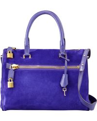 Tom Ford Frea Suede Padlock Satchel Bag  - Lyst