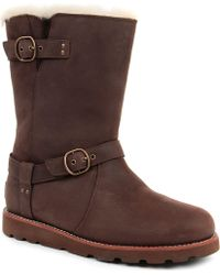 Ugg Noira Leather Boots - Lyst