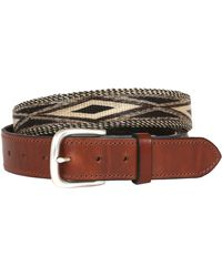 Will Leather Goods - Leather and Hitched Horsehair Belt - Lyst
