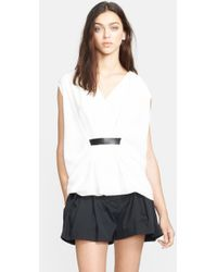 Alexander Wang Belted Top - Lyst