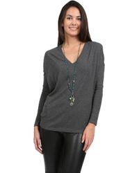 Bella Luxx Long Sleeve V Neck Top - Lyst