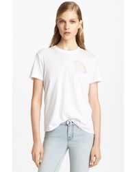 Christopher Kane Cotton Cashmere Tee - Lyst