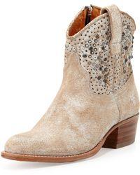 Frye - Deborah Studded Short Boot - Lyst