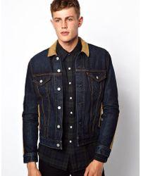 Lazy Oaf - Levis Denim Jacket Blanket Lined Trucker Cord Detail - Lyst