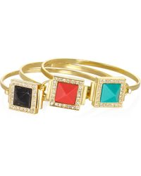 Sequin | Deco Stone Bangle Assorted Colors | Lyst