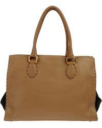 Fendi Large Leather Bag - Lyst