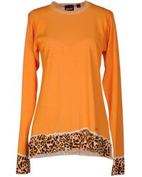 Just Cavalli Long Sleeve Sweater - Lyst