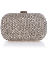 Karen Millen Glitter Collection Box Clutch Bag - Lyst