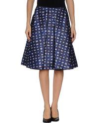 Rochas Knee Length Skirt - Lyst