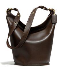 Coach Classic Leather Duffle Bag - Lyst