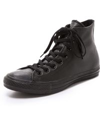 Converse Chuck Taylor All Star Leather High Top Sneakers - Lyst