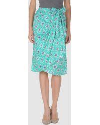 Paul & Joe Knee Length Skirt green - Lyst