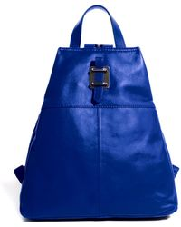 Asos Leather Fold Up Backpack - Lyst