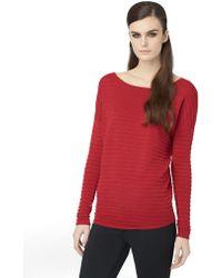 Calvin Klein Jeans Ottoman Textured Stripe Knit Pullover - Lyst