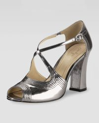Cole Haan Jovie Metallic Leather Sandal Armor - Lyst
