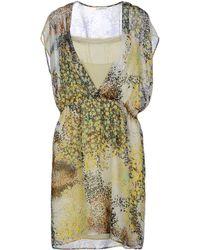 Gold Case Short Dress - Lyst